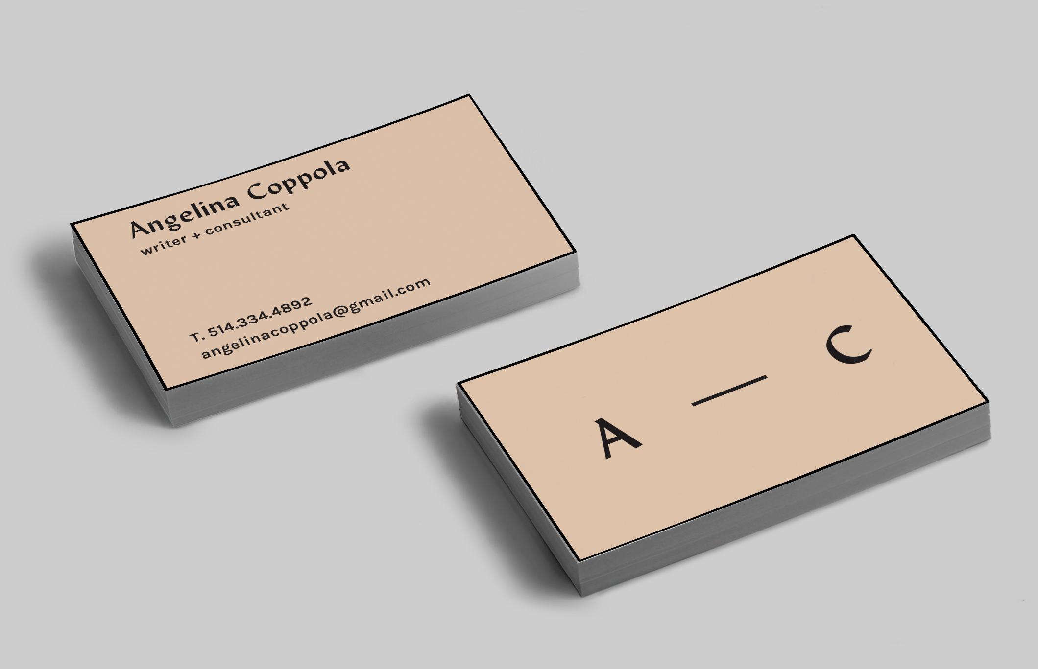 BUSINESS CARDS - sophia arriola-gibson