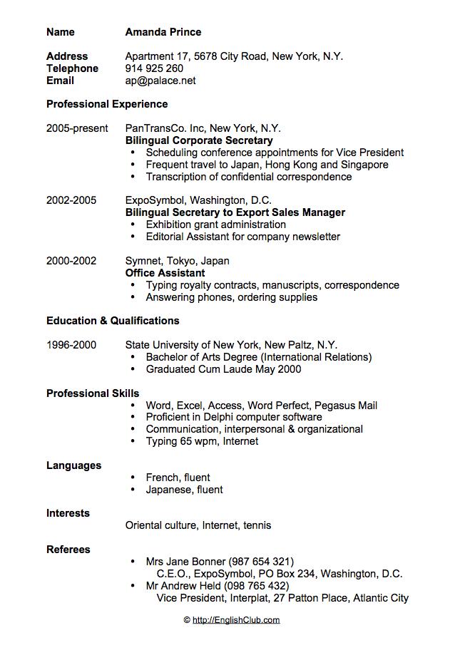 CV Resume - Curriculum Vitae - CV Resume - CV Login - Curriculum Vitae