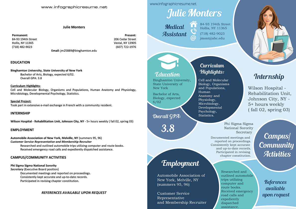 Infographic Resume Samples